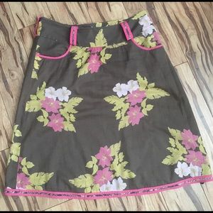 TED BAKER LONDON Floral Print Lines Skirt Ted 2